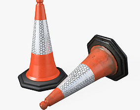 Traffic Cone traffic 3D asset low-poly