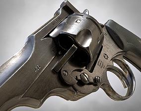 Webley MK VI Revolver PBR 3D model