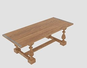 crafting 3D model Wooden Table