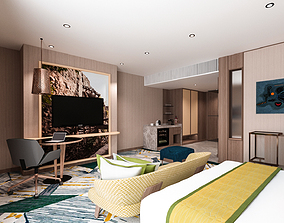 Hotel - Luxury Wealthy Suite Scene and Bathroom 3D model