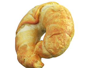 game-ready Photorealistic 3D Scanned Croissant