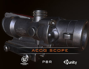 Acog Scope PBR 3D asset