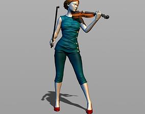 3D print model Pretty violinist