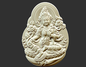 3D printable model oriental Kwanyin Bodhisattva