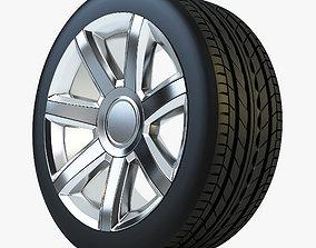 Wheel Tire 3D model sportscar