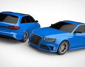 RS4 Wagon Lowpoly 3D model