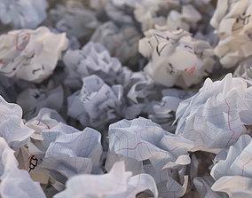 3D asset Crumpled paper ball