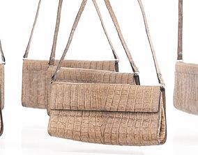 3D asset Crocodile Leather Purse Handbag