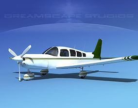 3D model Piper Cherokee Six 260 V09
