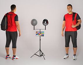 3D asset game-ready Dude in sportswear with a backpack 178