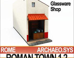 3D model Roman Town Glassware Shop 1 2 Low Poly