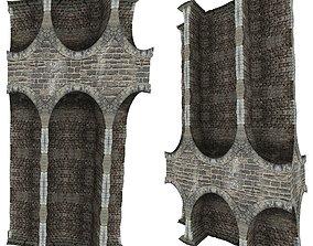 stone Gatehouse 01 Pillar 09 3D asset