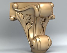 3D model Furniture leg 007