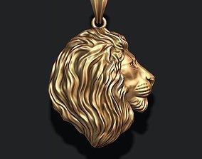lion pendant pendants 3D printable model