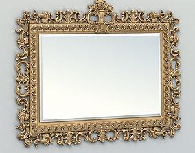 3D model Rectangle mirror frame 018
