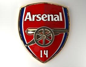 Arsenal emblem 3D asset