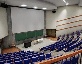 3D model University Classroom Scene