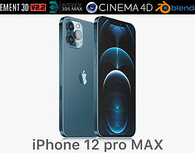 3D model Apple iPhone 12 pro MAX