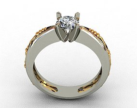 Diamond Ring 3D print model white