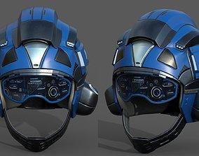 Helmet scifi pilot fantasy human protection 3D asset 1