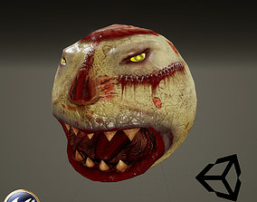 3D asset animated Zombie PacMan