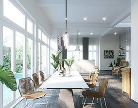 3D model Livingroom in villa