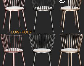 3D model AURORA Gold chair