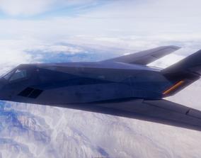 Stealth Bomber Fully Rigged For Blender 3D model