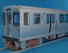 Chicago L Subway train 3D