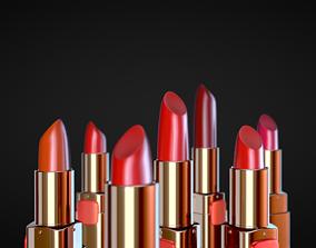 lipsticks gold 3D model