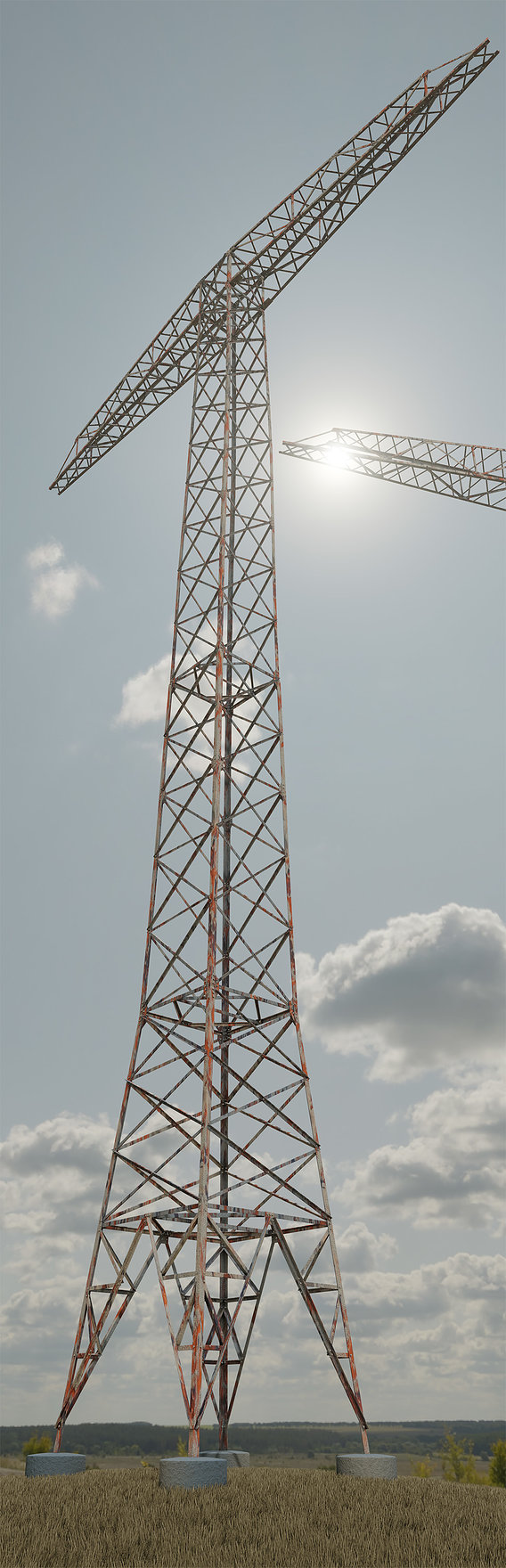 Rusty Transmission Tower 32 Meter