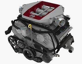3D asset Nissan GTR 2017 Premium VR38DETT engine