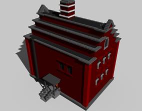 Voxel House 01 3D model