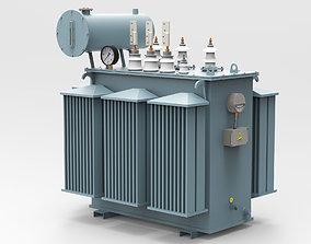 3D model Oil Power Transformer