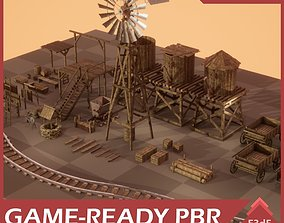 Wild West Props Pack 3D asset