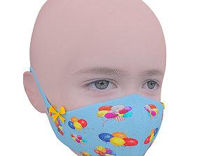 Medical mask for kids 3D model VR / AR ready