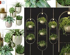 3D Hanging metal plant vine pot lighting lamp partition 1
