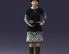 Woman dress and long boots 0509 3D Print Ready