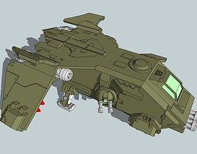 6mm and 8mm FireTurkey Gunship 3D print model