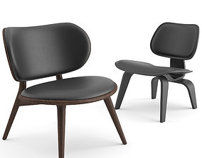 Scandinavian Lounge Chairs by Mater and Vitra 3D model
