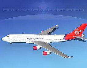 3D model Boeing 747-8I Virgin Atlantic