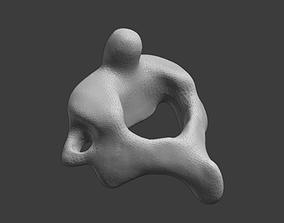 3D print model Axis C2 vertebra