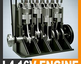 3D model engine L4 16V Engine Section