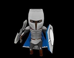3D model animated Rook soldier