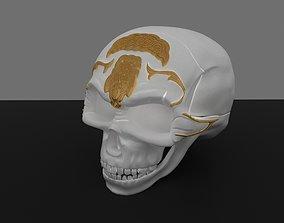 3D skull statue