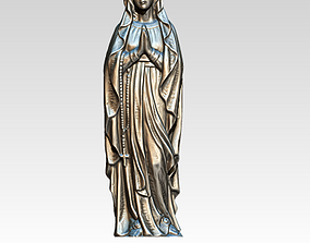 3D printable model Virgin Mary Statue