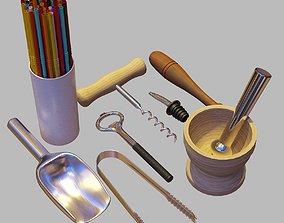 3D Bartender Tools Set 06