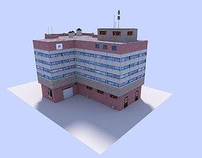 3D asset free office building