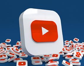 3D asset Social media - YouTube