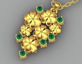 Floral pendent 3D printable model